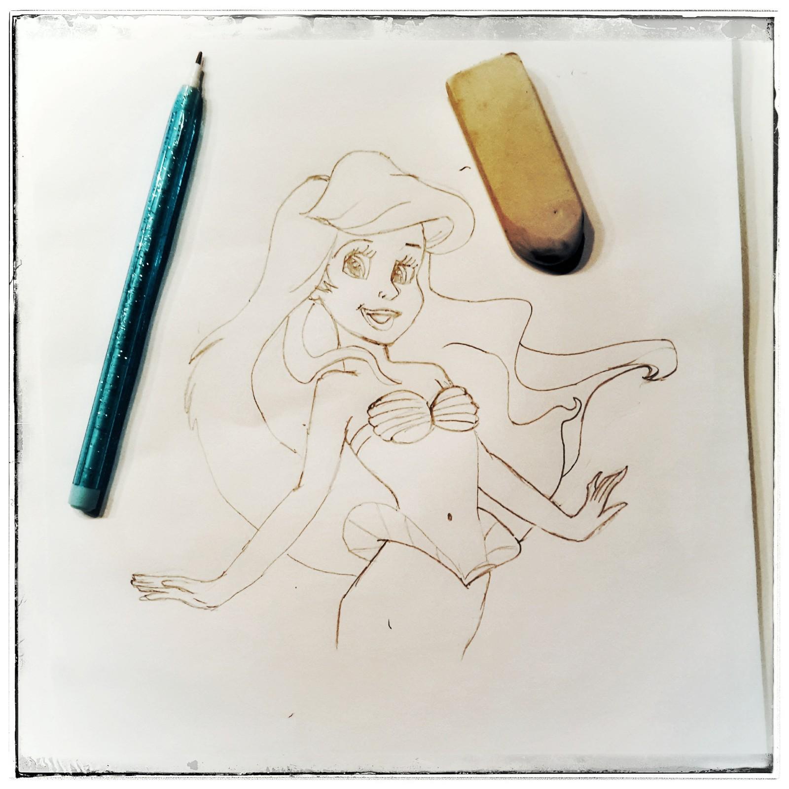 disney arielle zeichnen