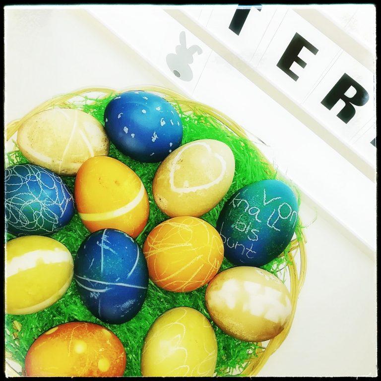 Eier, Ostern, Gemüse, bunt