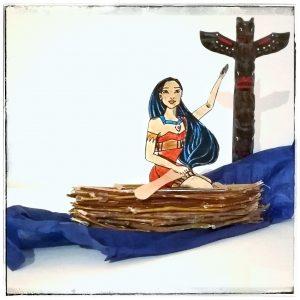 Pocahontas, Disney, DIY, basteln, Kinder, Prinzessin, Indianer, Squaw, Upcycling, selber machen, basteln mit Holz, Äste