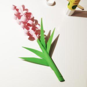 Papierblume, Hyazinthe, basteln, selber machen, DIY, Kunstblume, Blumen