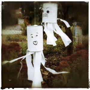 Halloween DIY Gespenst Geist Dekoration Deko basteln