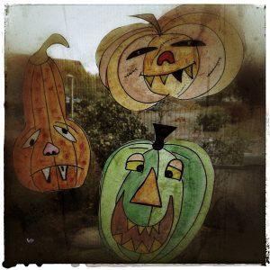 Halloween DIY Kürbisfratze Dekoration Deko basteln
