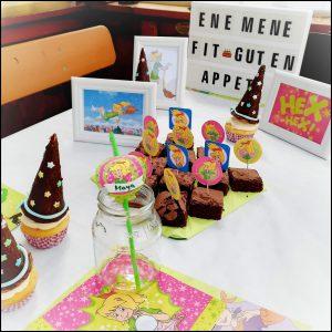 Bibi Blocksberg Party, Hexenparty, Essen, Tischdeko