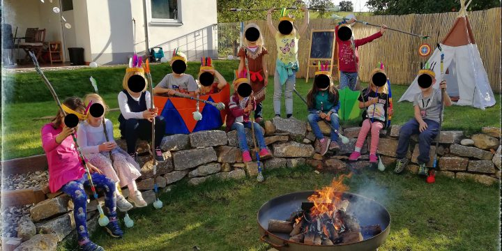 """Kindergeburtstag """"Indianer"""" – Großes Powwow bei Krummer Bach"""