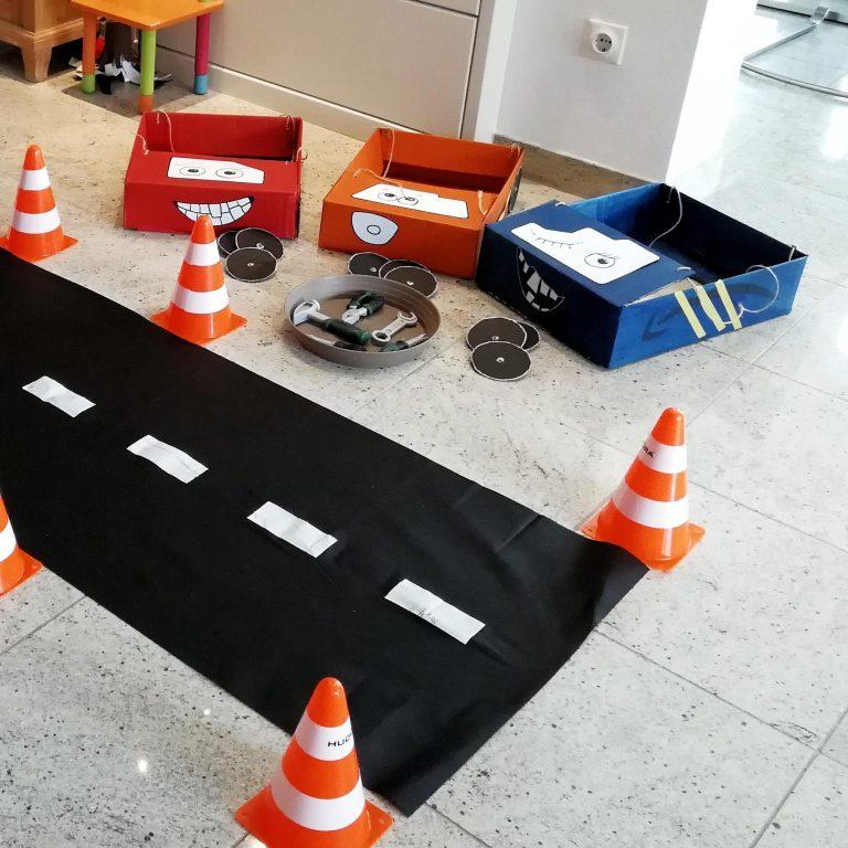 Autoparty Kindergeburtstag Spiele Autos Diy basteln