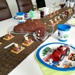Autoparty Kindergeburtstag Autos Kuchen Autokuchen Tischdekoration