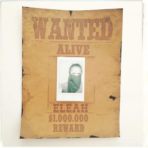 Wanted Plakat Steckbrief Cowboys